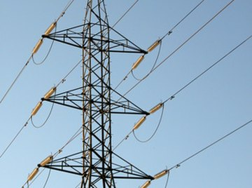 High voltage, high current straight-ine electrical transmission towers generate some magnetism
