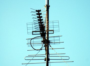 The height of an antenna can be measured using trigonometry.