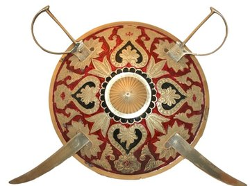 It's easy to make a Greek shield from cardboard.