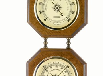 Sometimes a hygrometer is paired with a barometer to measure the weather.