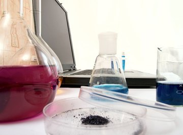 Titration determines the concentration of a solute in solution.