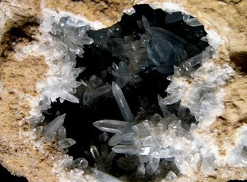 Quartz crystals will fracture when struck with a hammer.