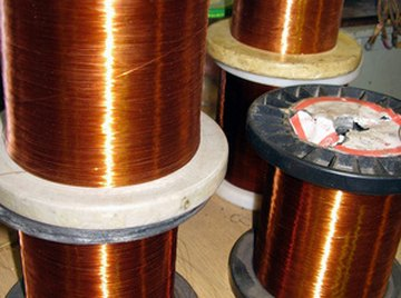 Use magnet wire to create the coil for a simple solenoid.