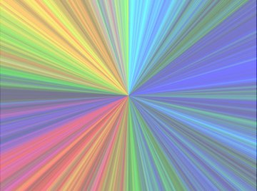 Colors absorb light, and the absorbance is proportional to concentration.