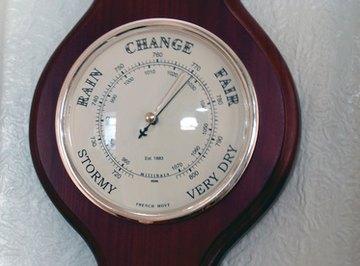 Barometer that reads barometric pressure in millimeters of mercury.