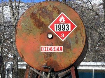 Diesel fuel tanks store fuel on site.