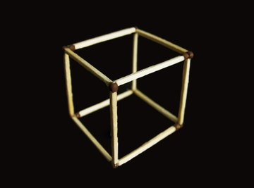 A cube has six faces.