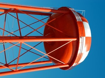 Water towers can be made colorful.
