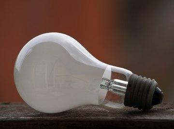A light bulb emits lumes based on its wattage.