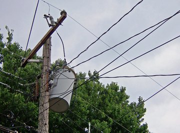 Electricity made high-voltage to reduce losses over long distances is transformed to low voltage for residential use.