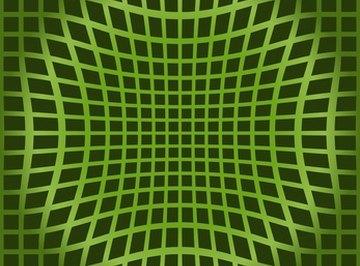 An optical illusion tricks the eye.