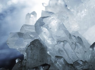 Quartz crystals are often used as semi-precious gems.