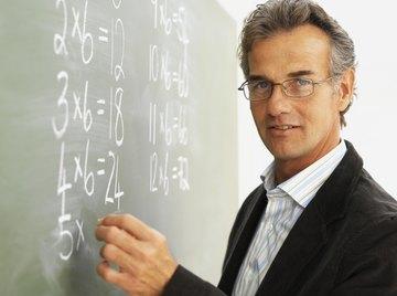 A math teacher is teaching multiplication.