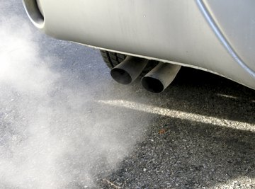A close-up of a cars exhaust.
