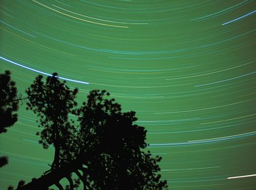 The stars rotate 360 degrees in a sidereal day.