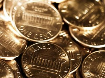 Clean the tarnished pennies with a few household goods.