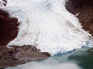 The Earth is losing many major glaciers due to global warming.