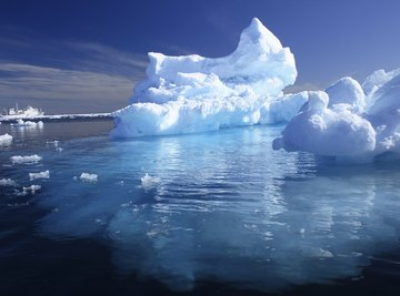 An iceberg is the solid state of water.
