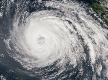 Typhoons forming over Japan