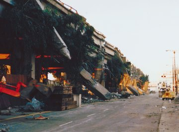 Tilting typically occurs before and after earthquakes.
