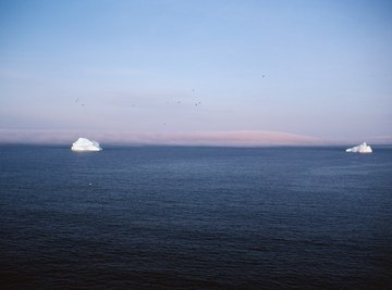 The melting of icebergs leads to several potential environmental and human problems.