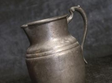 A pewter jug.