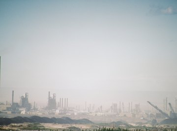 The main components of smog often come from factories.