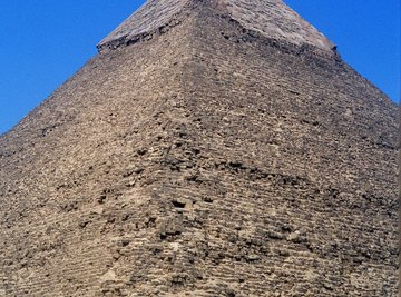 The pyramids are a testament to the Egyptians' ability to quarry and move granite.