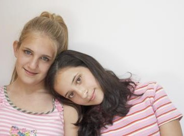 A Punnett square could determine the probabilities of these sisters' eye colors.