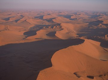 Coastal deserts like the Namib Desert experience mild temperatures.