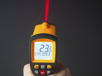 Infrared sensors using laser beams are just one tool to measure heat.