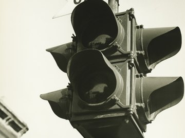 The colors used in traffic lights evolved from railroad signal lanterns.