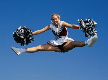 Many facets of cheerleading can be shaped into a science fair project.
