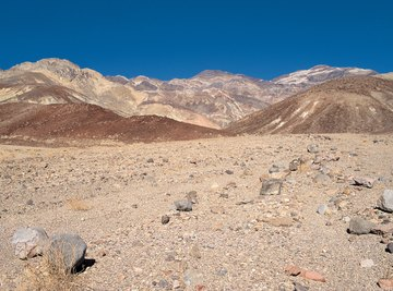 Heat is a major weathering force in Death Valley, New Mexico.