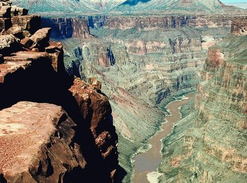 Both weathering and erosion act to form canyons.