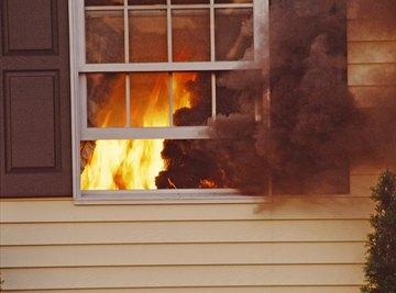 Fire retardants prevent polyethylene from burning.