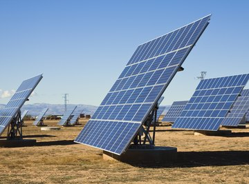 Solar panels can easily be grouped to form large arrays.