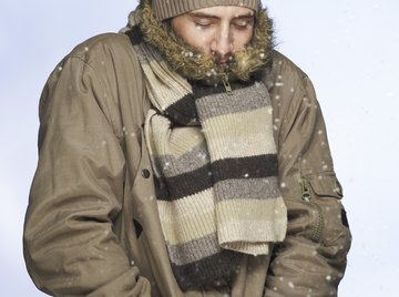 Shivering is an example of a reaction to maintain thermal homeostasis in your body.