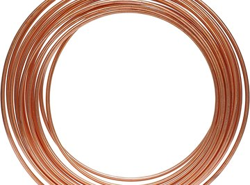 Pure copper is used to make electrical wire and plumbing materials.