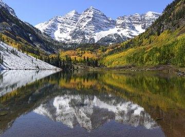 Maroon Lake in Aspen, Colorado.