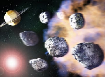 Asteroids are caught in the Sun's gravity between Mars and Jupiter.