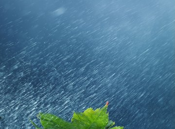 Measurement of rainfall is an important element of weather tracking.