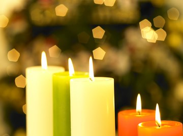 Candles are often shaped like cylinders.
