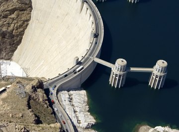 The Hoover Dam is an example of hydroelectric power.
