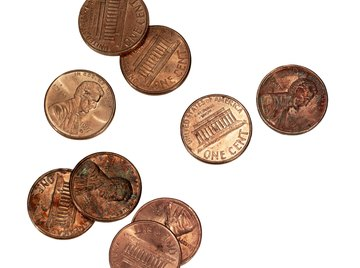 With time, some pennies start to discolor.