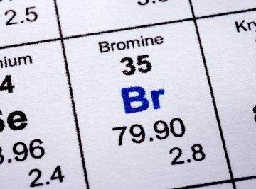 The halogen bromine is intermediate in atomic size between fluorine and astatine.