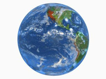 The Earth has kinetic energy because it has speed, mass and momentum.