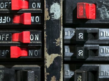 Circuit breakers discontinue electrical flow.