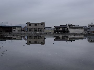 The destructive force of major tsunamis causes catastrophic damage.