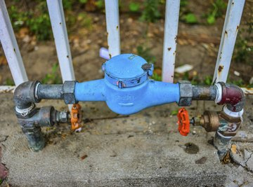 The utility company usually bills you for usage in cubic feet, while household water use is usually measured in gallons.